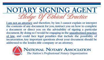 Notary Pledge